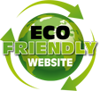 eco friendly website badge